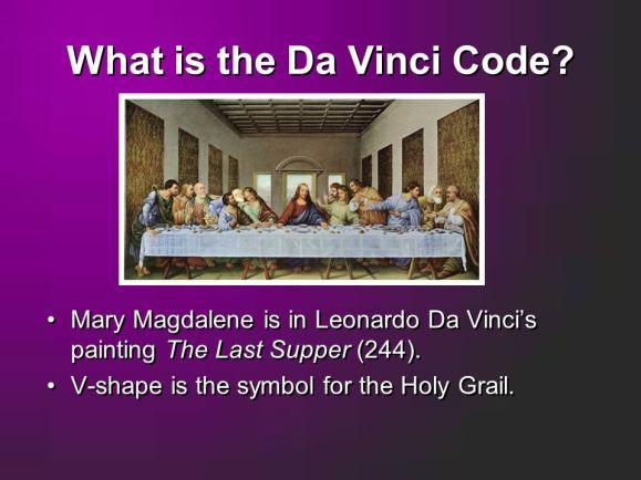 Amends Da Vinci Code