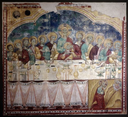 Amends Last Supper with halos